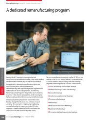 A dedicated remanufacturing program - Kaydon Bearings