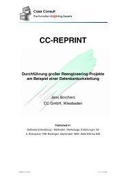 Durchführung großer Reengineering-Projekte am ... - CC GmbH