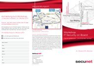 Workshop IT Security on Board - Secunet