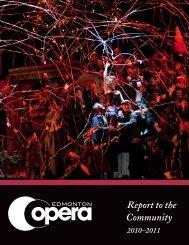 Report to the Community - Edmonton Opera
