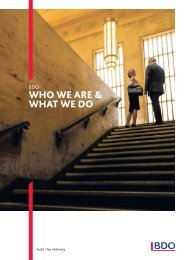 who we are & what we do - BDO