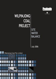 WILPINJONG COAL PROJECT - Peabody Energy