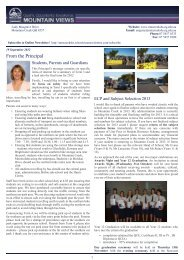 Newsletter 13-09-12 - Mountain Creek State High School