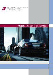 TAXES: EARNING BY SAVING - AstapovLawyers