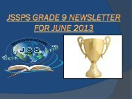 Newsletter Gr.9_June - JSS Private School
