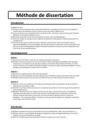 Méthode de dissertation - e-nautia