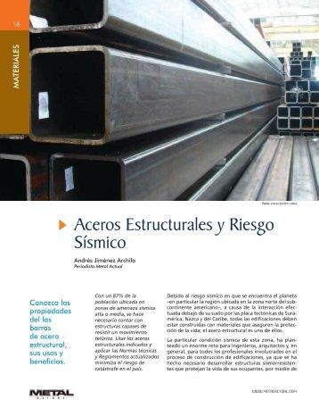 Aceros Estructurales y Riesgo Sísmico - Revista Metal Actual