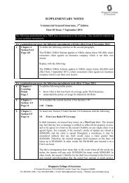 SUPPLEMENTARY NOTES - Singapore College of Insurance Limited