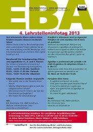 4. Lehrstelleninfotag 2013 - Integration Kanton Solothurn