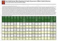 Saharsa - STATE HEALTH SOCIETY-----BIHAR