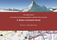 5. Swiss e-tourisme forum - Institut für Wirtschaftsinformatik ...
