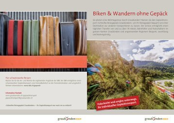 Biken & Wandern ohne Gepäck - Graubünden