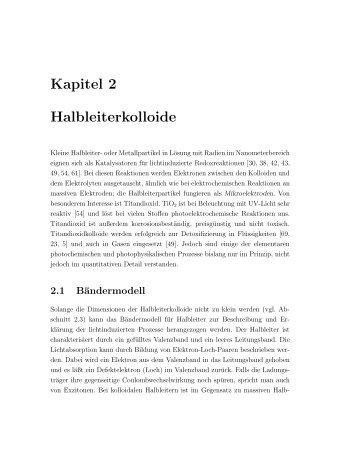 Kapitel 2 Halbleiterkolloide