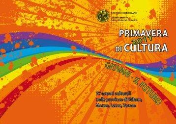 Programma Primavera di cultura 2011 - Chiesa di Milano