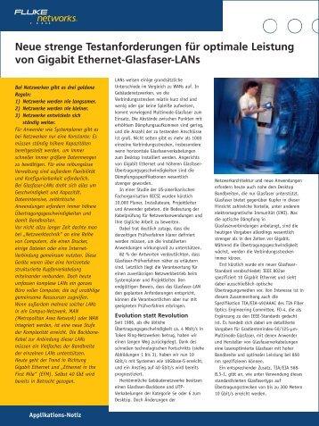 Neue strenge Testanforderungen für optimale Leistung von Gigabit ...