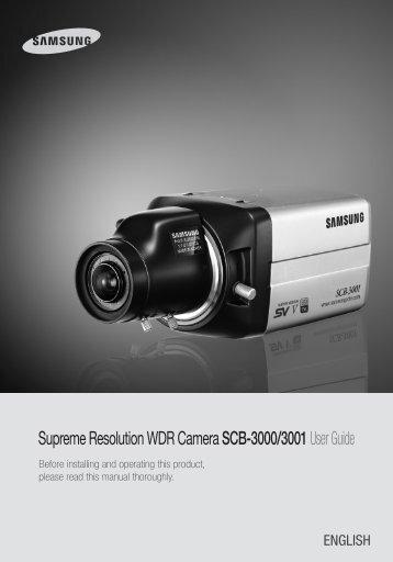 Supreme Resolution WDR Camera SCB-3000/3001User ... - Samsung