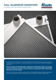 Full-Aluminum RAdiAtoRs - Nissens