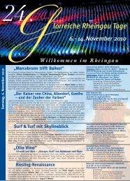 Glorreiche Rheingau Tage Programm 2010 - Balthasar Ress