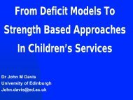 From Deficit Models to Strength Based Approaches in Children's ...