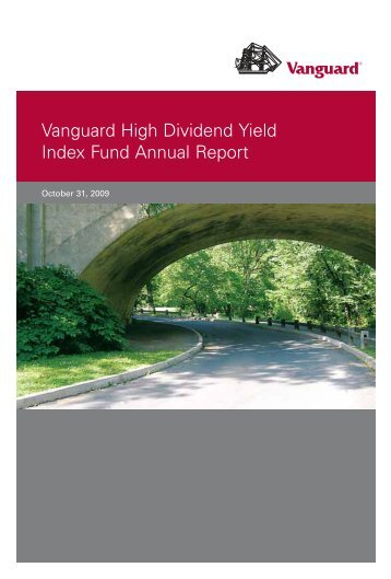 Vanguard High Dividend Yield Index Fund Annual Report October ...