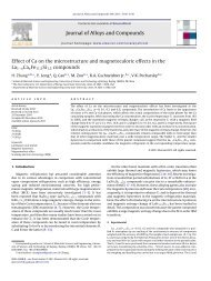 Effect of Ca on the microstructure and magnetocaloric effects in the ...