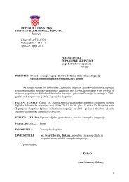 Izvješće o stanju u gospodarstvu Splitsko-dalmatinske županije s ...
