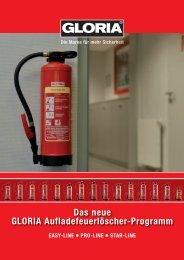 Das neue GLORIA Aufladefeuerlöscher-Programm - Gloria GmbH