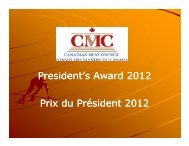 2012 President's Award - Canadian Meat Council