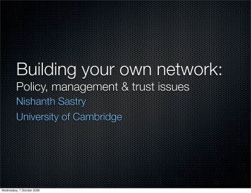 Policy, management & trust issues