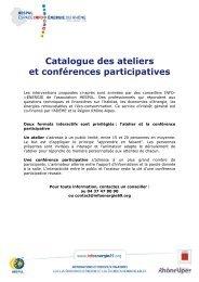 ateliers et conférences participatives - Espace INFO->ÉNERGIE du ...