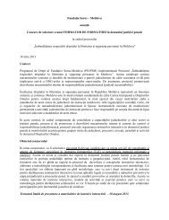 Detalii anunț și ToR - Soros Foundation Moldova