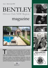 Issue - Bentley Drivers Club NSW