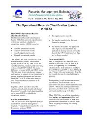 Operational Records Classification Systems - Department of Public ...