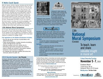 National Mural Symposium - Mural Routes