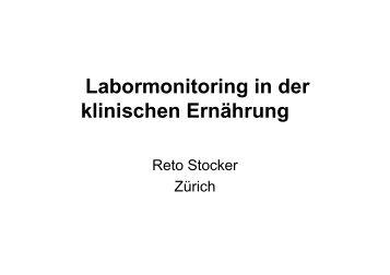 Labormonitoring in der klinischen Ernährung - geskes