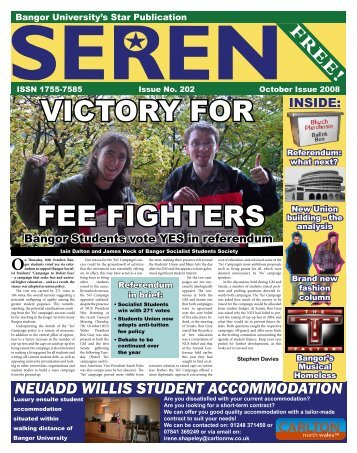 VICTORY FOR FEE FIGHTERS - Seren - Bangor University