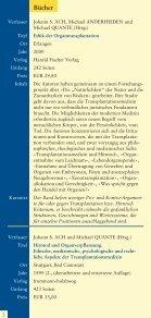 Literaturhinweise zum Thema Organspende und Organtransplantation - Seite 2