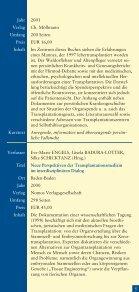 Literaturhinweise zum Thema Organspende und Organtransplantation - Seite 5