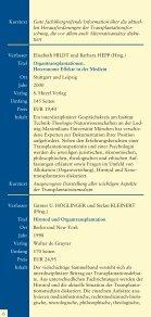 Literaturhinweise zum Thema Organspende und Organtransplantation - Seite 6
