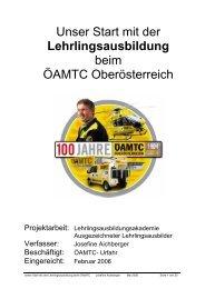 Unser Start mit der Lehrlingsausbildung beim ÖAMTC Oberösterreich