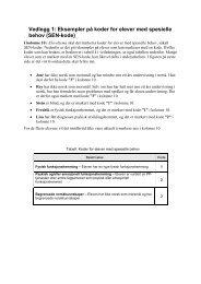 Vedlegg 1: Eksempler på koder for elever med spesielle ... - Pisa