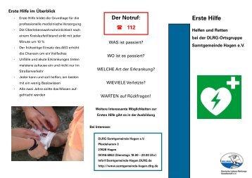 Erste Hilfe - DLRG Ortsgruppe Samtgemeinde Hagen e.V.