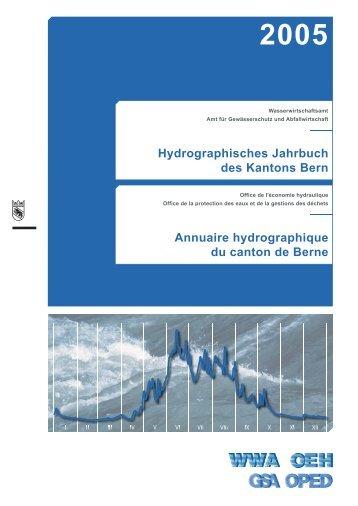 Annuaire hydrographique du canton de Berne ... - Kanton Bern