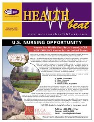 February 2003 - McCrone Healthbeat