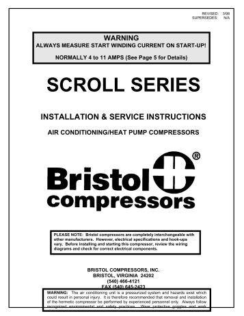 ha two speed start comp bristol scroll compressors desco energy