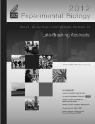 Late Breaking Program - Experimental Biology