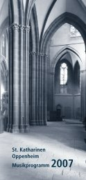 St. Katharinen Oppenheim Musikprogramm 2007 - Kirchenmusik ...