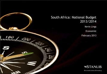 South Africa: National Budget 2013/2014 Presentation - Stanlib