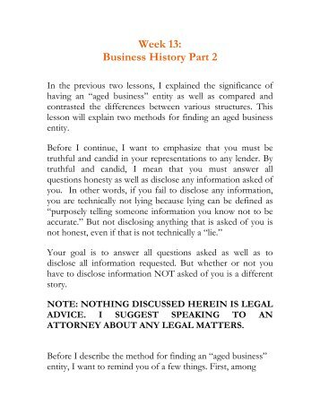 Lesson 13 Revised - Business Credit Approved
