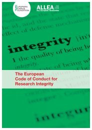 Code of Conduct for Research Integrity - European Science ...